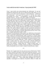 I mass media davanti alla rivoluzione e il ... - Tommaso Franci