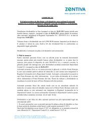 COMUNICAT Privind procedura de distribuire a ... - Zentiva
