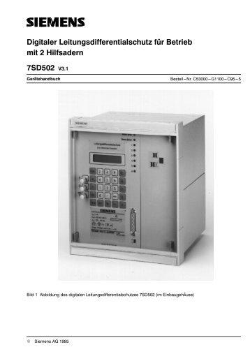 DigitaIer LeitungsdifferentiaIschutz fÚr Betrieb 7SD502 ... - SIPROTEC