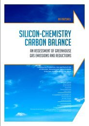 Silicon-chemiStry carbon balance