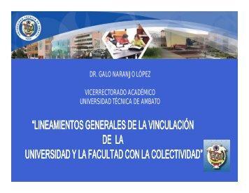 vinculación con la colectividad - Universidad Técnica de Ambato
