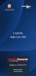 Stagione 2009/2010 - Associazione culturale The International ...