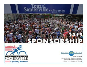 2013 SPONSORSHIP - Tour of Somerville