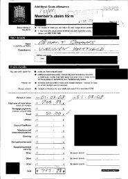 Memb ris clarm fqrm - Allowances by MP
