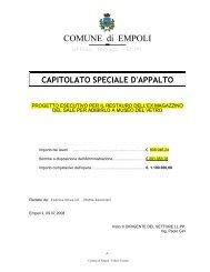 capitolato speciale d'appalto - Comune di Empoli