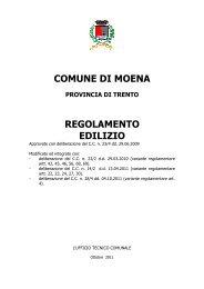 regolamento edilizio - Comune di Moena