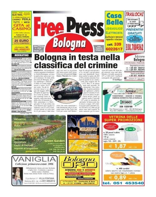 Nuova Fonte Del Materasso Bologna.Bologna In Testa Nella Classifica Del Crimine Free Press Bologna