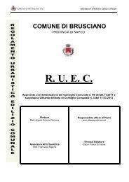 Regolamento Urbanistico Edilizio Comunale - Comune di Brusciano