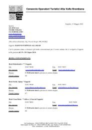 Consorzio Operatori Turistici Alta Valle Brembana - Off Road Web