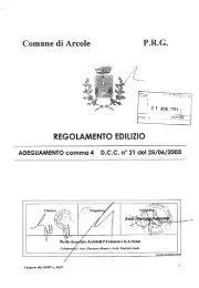Regolamento Edilizio con P.I - Comune di Arcole