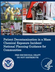Patient Decontamination in a Mass Chemical Exposure Incident ...