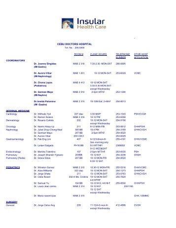 , CEBU DOCTORS HOSPITAL - University of San Carlos