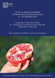 Tutto il programma del Forum - Comune di Milano