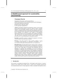 A NAIADE based approach for sustainability benchmarking ...