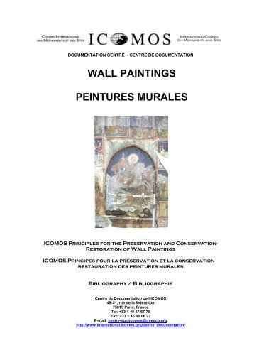 WALL PAINTINGS PEINTURES MURALES - Icomos
