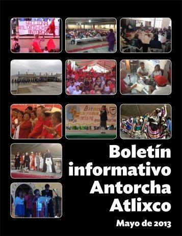 Boletín informativo Antorcha Atlixco