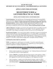 REGISTERED NURSE or LICENSED PRACTICAL NURSE - Utah ...