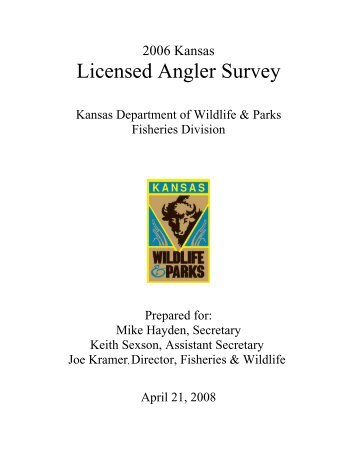 Licensed Angler Survey.pdf - Kansas Department of Wildlife and Parks