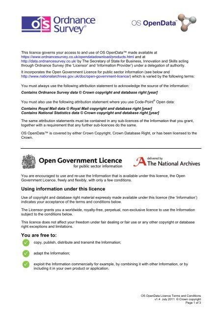 OS OpenData Licence - Ordnance Survey