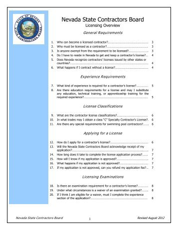 Licensing Overview.pdf - Nevada State Contractors Board