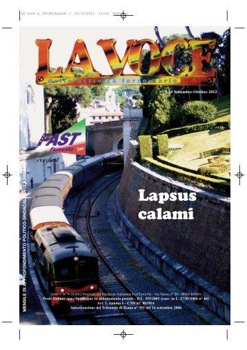 La Voce delle Attività ferroviarie Settembre - Ottobre - FAST-FerroVie