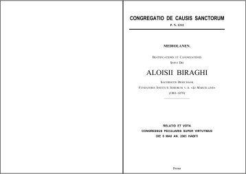 ALOISII BIRAGHI - Suore Marcelline