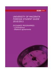 Foreign Student Guide 2010/2011 Document - Scuola di Studi ...