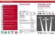 VIAGGIARE SICURI IN AUTOSTRADA BUON VIAGGIO - Autostrade