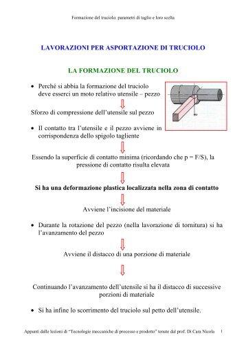 Formazione del truciolo - ITIS G. Galilei