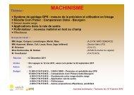 MACHINISME - Base de données FNPSMS