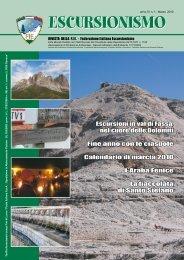 Escursionismo – anno 51 n° 1 – marzo 2010 - FIE
