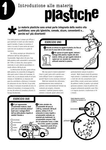Plastics in the classroom - Italy - Intruduzione alle ... - PlasticsEurope