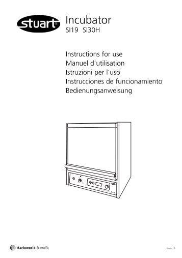 Incubator SI19 & SI30H - Stuart Equipment