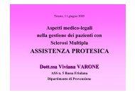 ASSISTENZA PROTESICA - Gruppo Triveneto Sclerosi Multipla