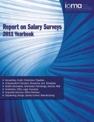 Report on Salary Surveys 2011 Yearbook - Ioma.com
