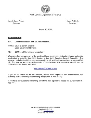 2011 - NC Department of Revenue