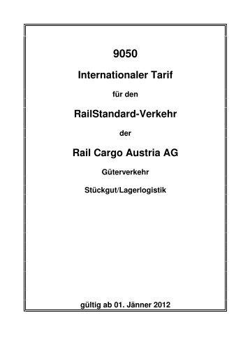 Internationaler Tarif Railstandard-Verkehr Rail Cargo Austria AG
