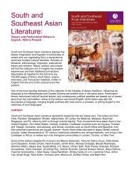 South and Southeast Asian Literature: - Alexander Street Press