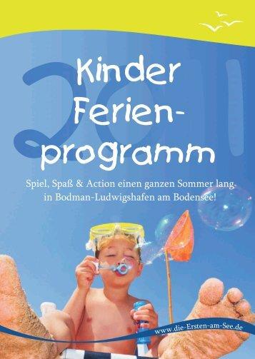 Kinderferienprogramm - Die-ersten-am-see.de
