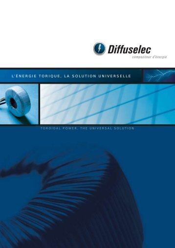 Catalogue TRANSFORMATEURS - Diffuselec