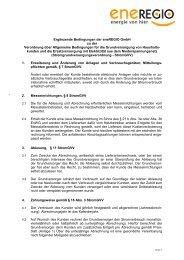 Ergänzende Bedingungen der eneREGIO GmbH zur Strom ...