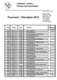 Briefkopf FF Leinzell Kommandant - Freiwillige Feuerwehr Leinzell