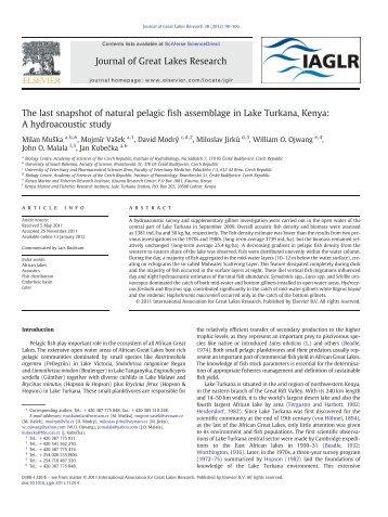 The last snapshot of natural pelagic fish assemblage - Institute of ...