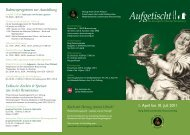 Flyer zur Ausstellung - Herzog Anton Ulrich-Museum - Niedersachsen
