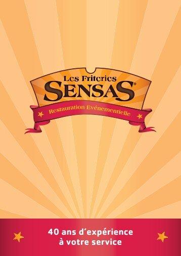 téléchargez la plaquette des friteries Sensas - Les friteries Sensas