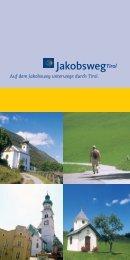 Folder mit Kurzinfos - Jakobsweg Tirol