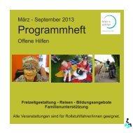 Programmheft Offene Hilfen 2013