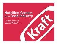 Nutrition Careers in the Food Industry - Kraft Foods