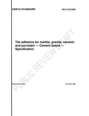 Tile adhesive for marble, granite, ceramic and porcelain ... - Members