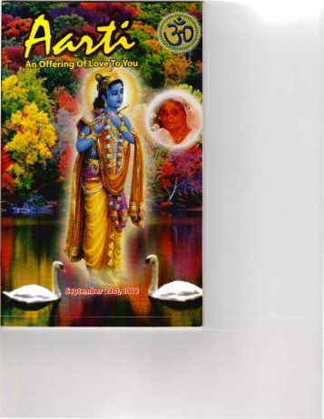 Aarti - An Offering of Love to You - ptlutchmidath.com
